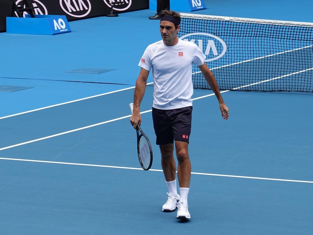 Federer Practice Session