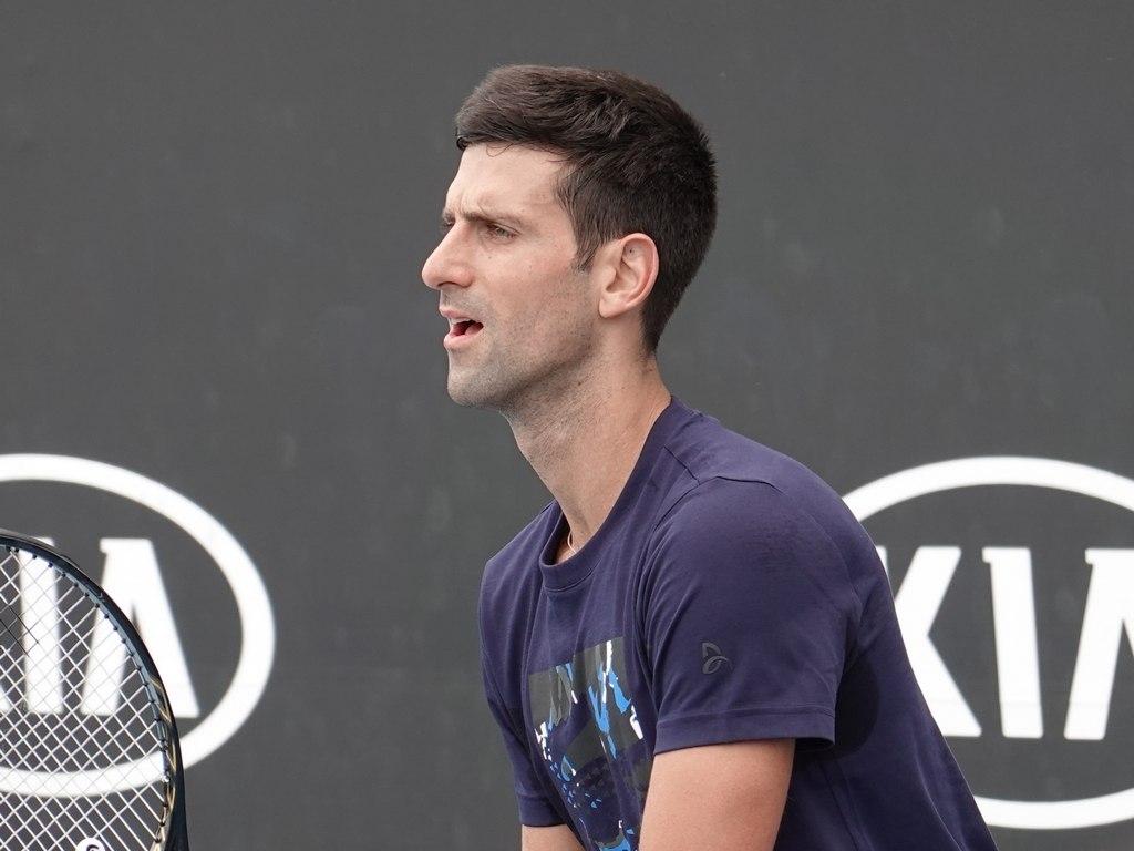 Djokovic Practice Session