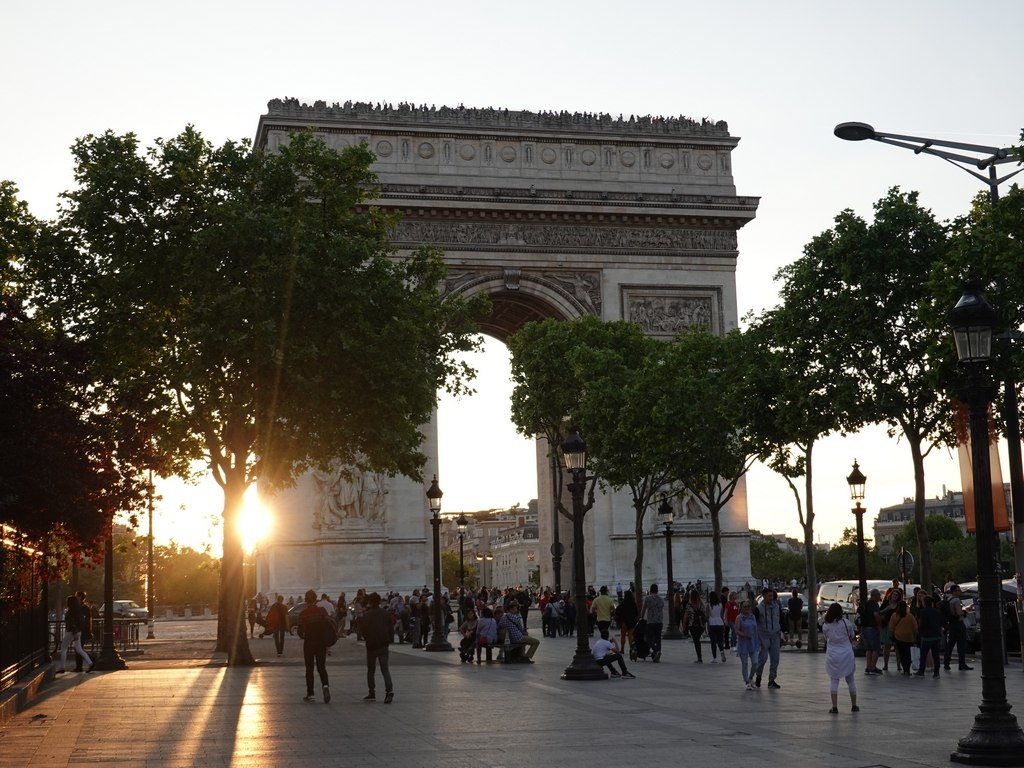 Paris: L'arc de triomphe