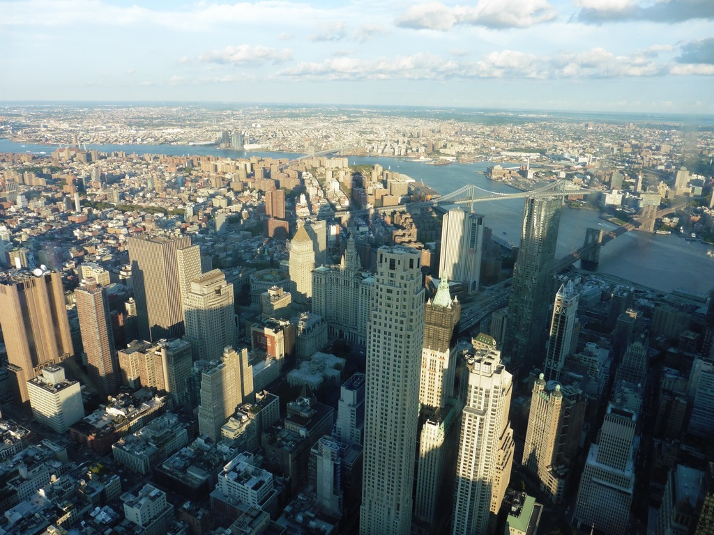 New York City: Manhattan View from One World Trade Center